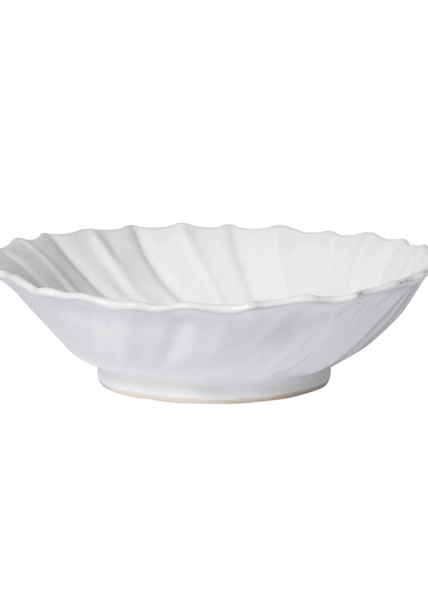 Image 2 of 2: Incanto Stone Ruffle Large Bowl, White