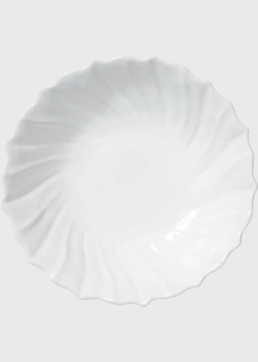 Image 1 of 2: Incanto Stone Ruffle Large Bowl, White