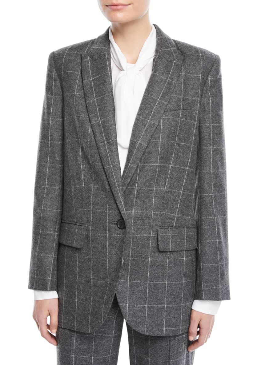 Equipment James Scholastic Plaid Wool Blazer & Matching