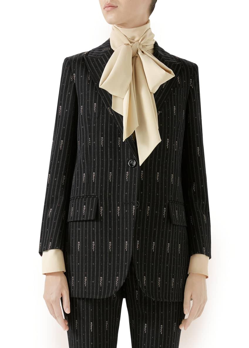 Gucci Three-Button Logo-Striped Fil Coupe Jacket & Matching
