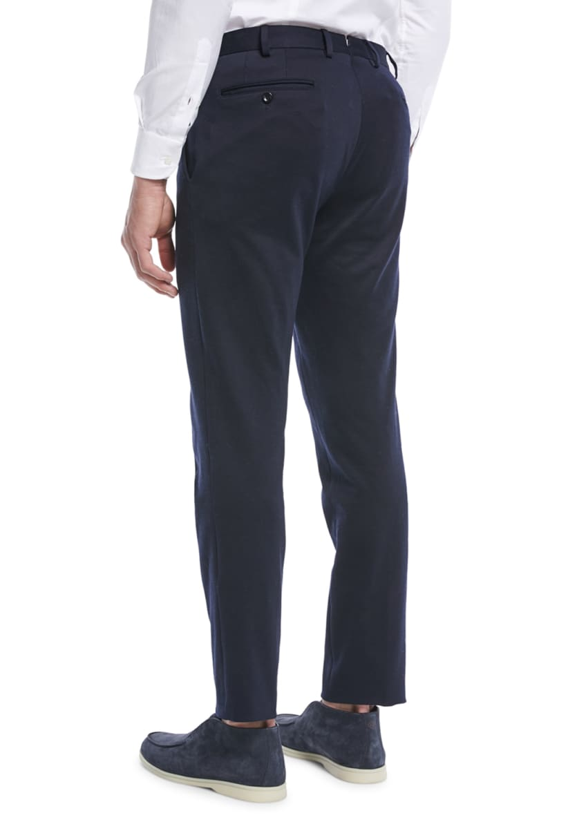 Image 2 of 3: Men's Pleated Jersey Pants