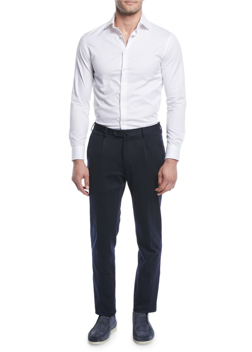 Image 3 of 3: Men's Pleated Jersey Pants