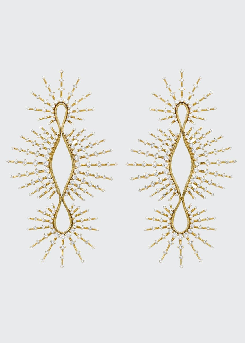 Fernando Jorge Clarity 18k Linear Open Diamond Earrings