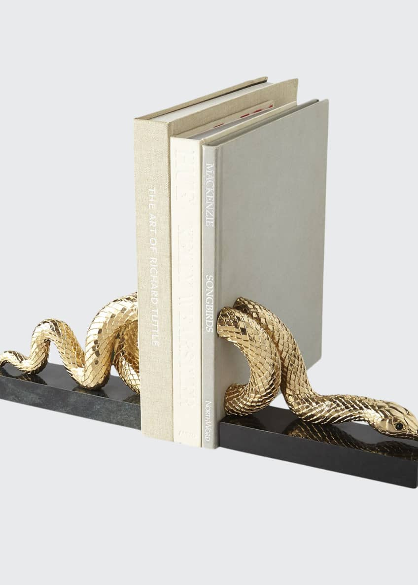 Image 1 of 1: Snake Bookend Set