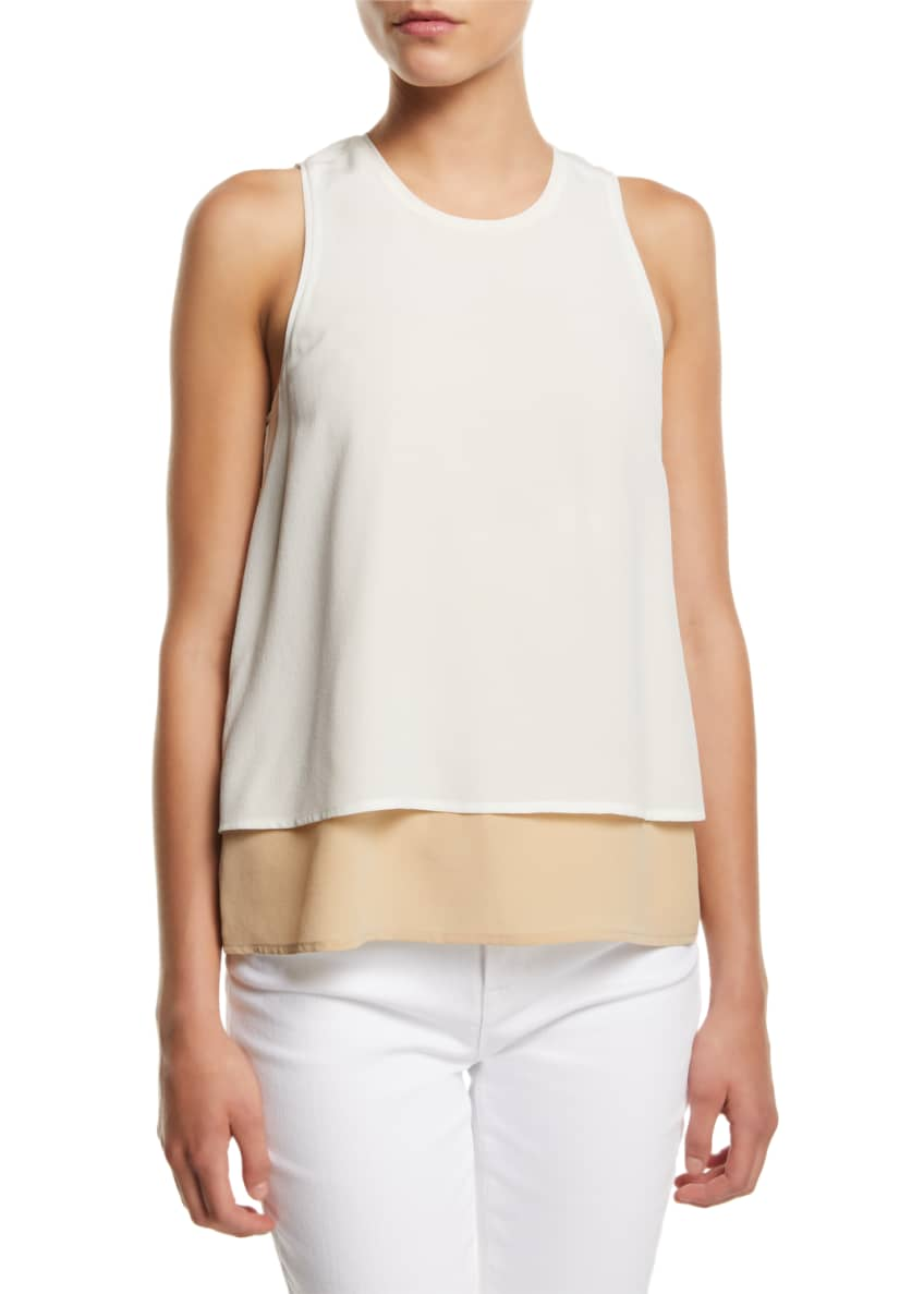 L'Agence Catarina Layered Silk Tank Top & Matching