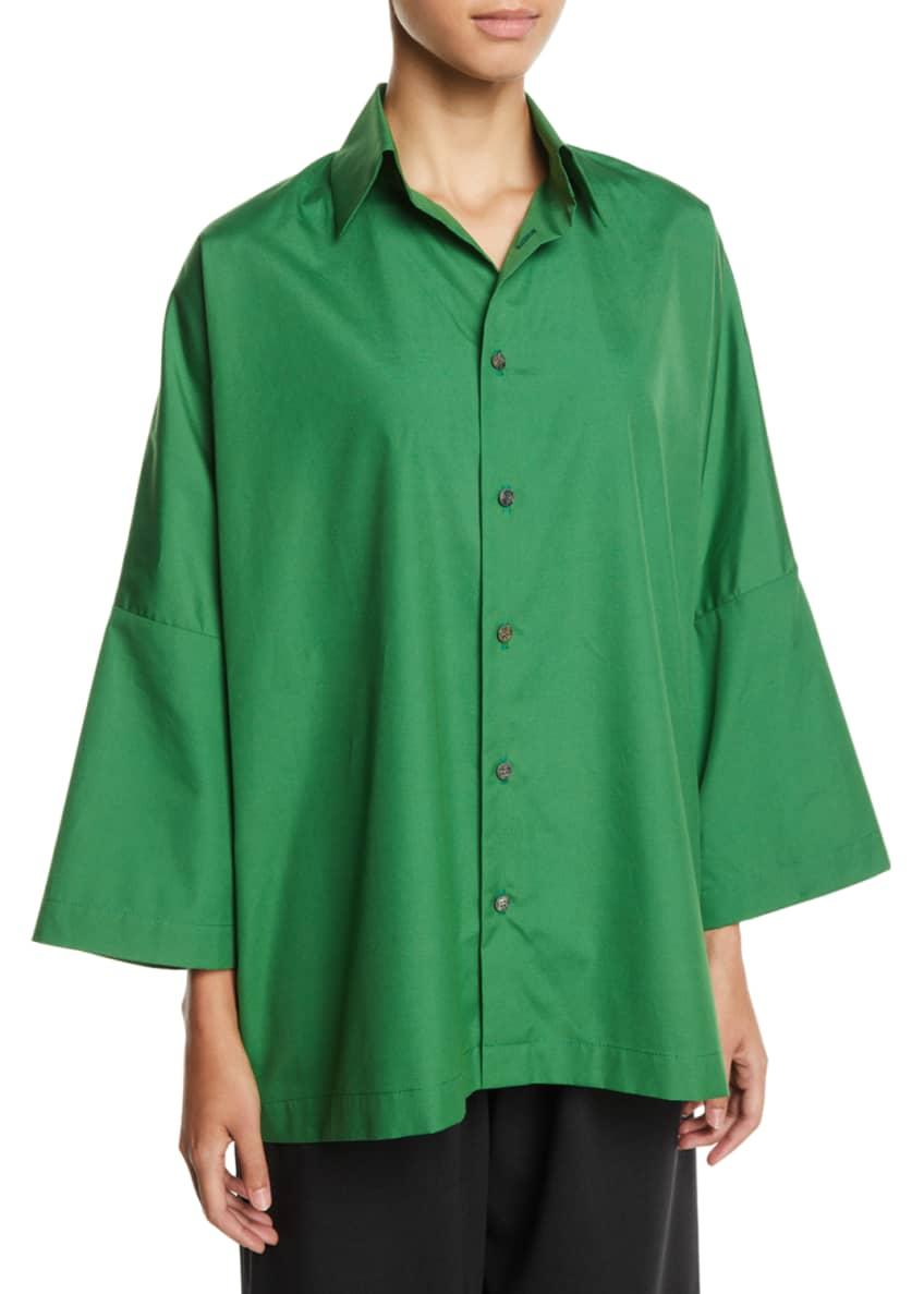 Eskandar Dropped-Shoulder Button-Front Cotton Shirt & Matching