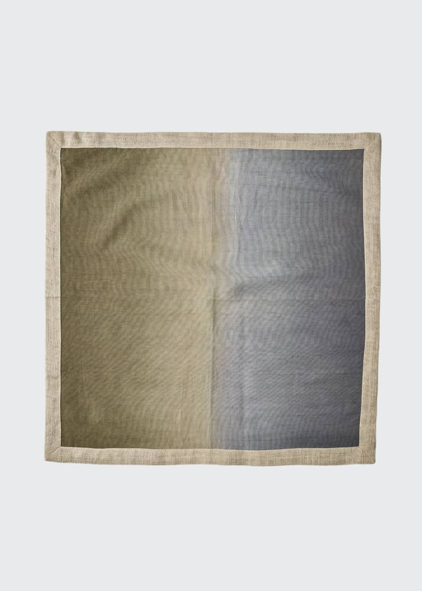 Image 1 of 2: Dip-Dye Linen Napkin, Neutral