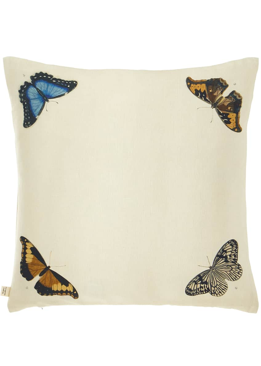 Image 2 of 2: Mirrored Butterflies Decorative Pillow