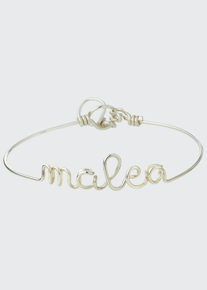 Atelier Paulin Personalized 10-Letter Wire Bracelet, Silver