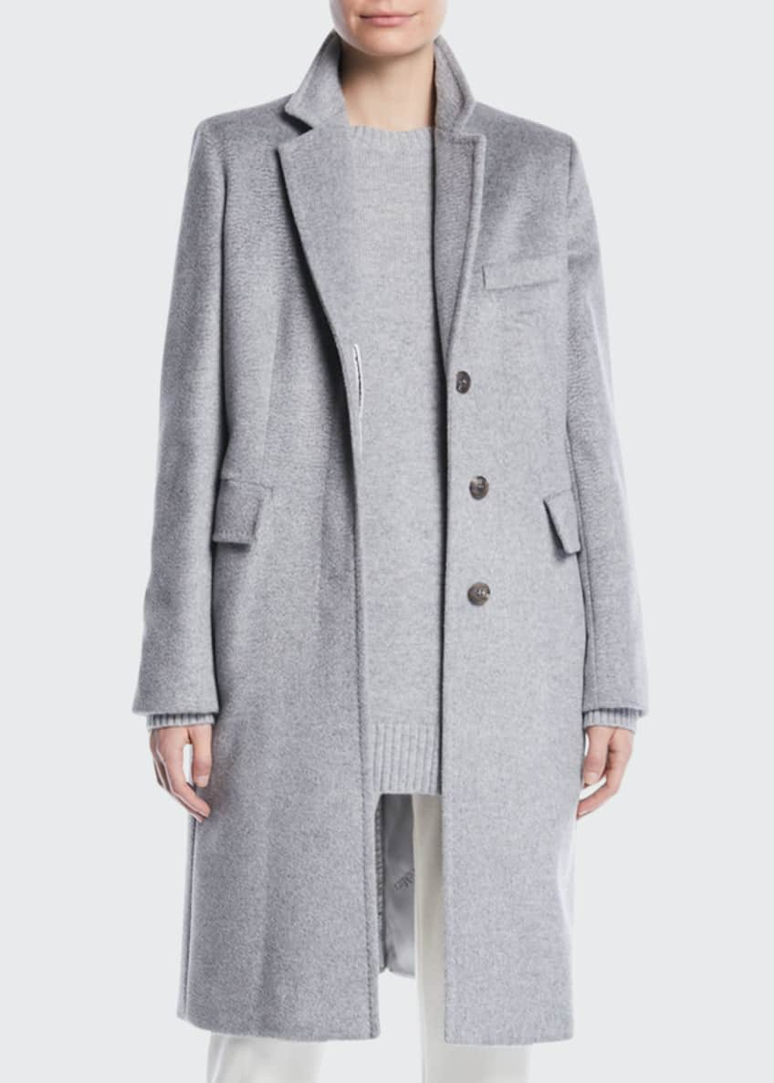Maxmara Furetto Button-Front Mid-Length Camelhair Coat & Matching