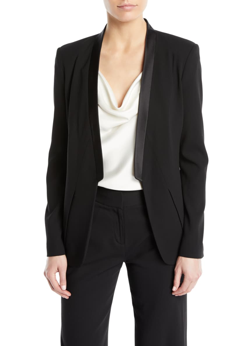 Halston Heritage Long-Sleeve Open-Front Wool Blazer & Matching