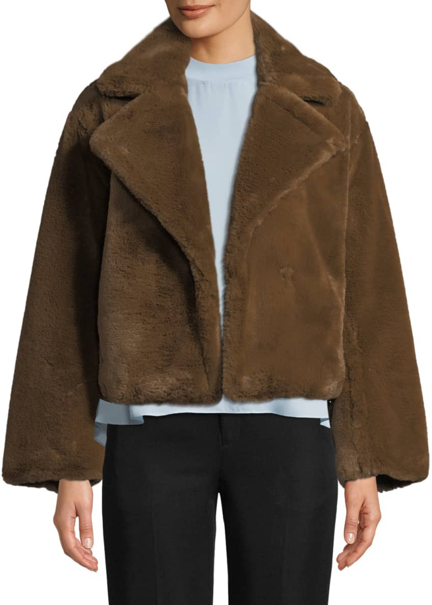 Vince Plush Faux-Fur Coat & Matching Items