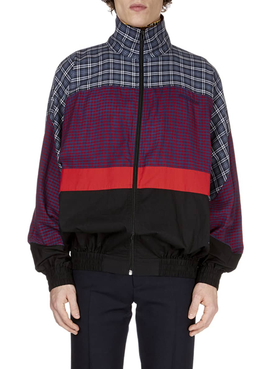 Balenciaga Men's Patch-Pattern 80s Anorak Jacket & Matching