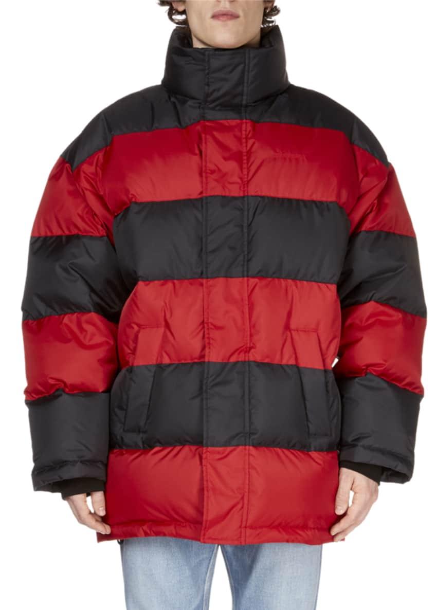 Balenciaga Men's Striped Puffer Coat & Matching Items