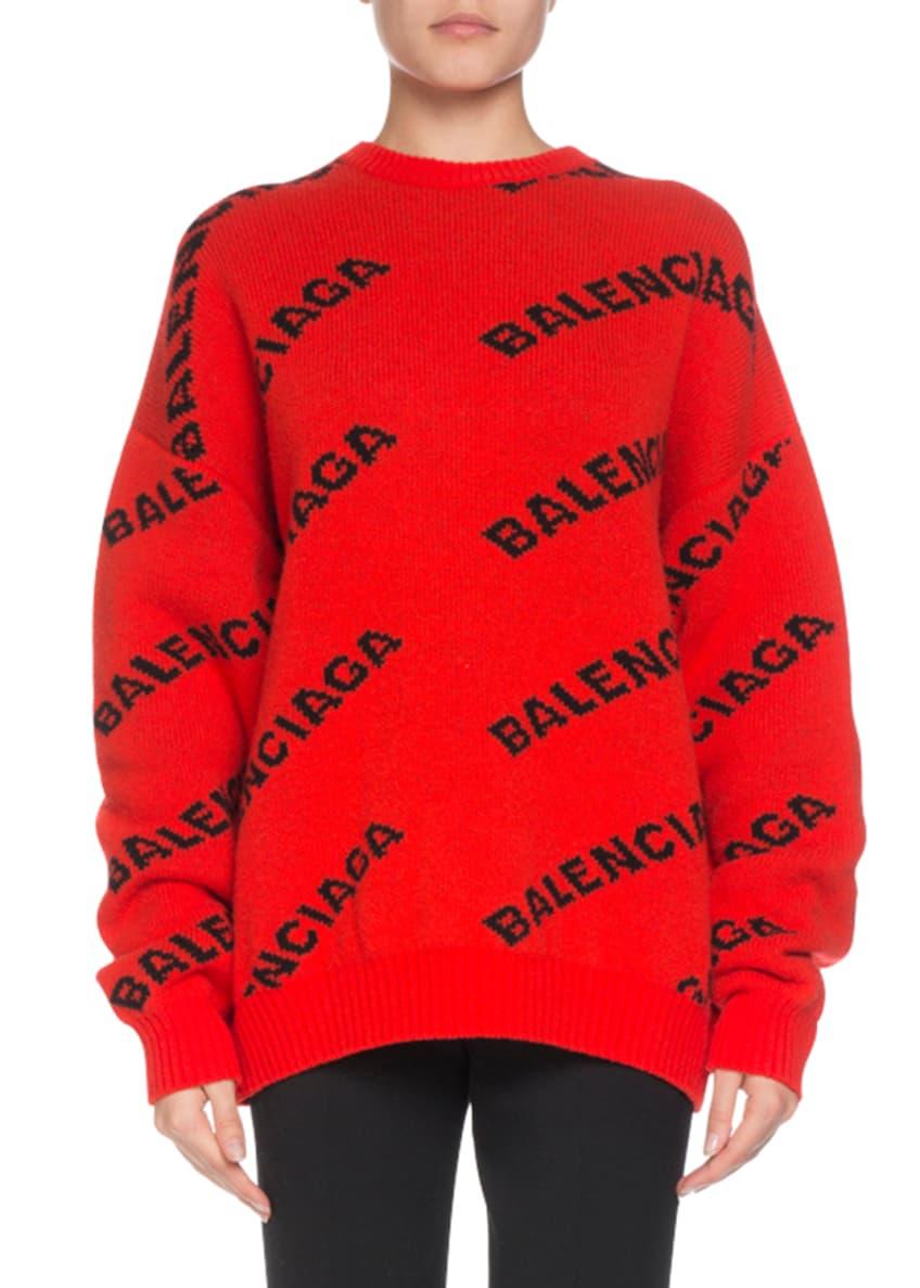 Balenciaga Logo Intarsia Wool-Blend Sweater & Matching Items