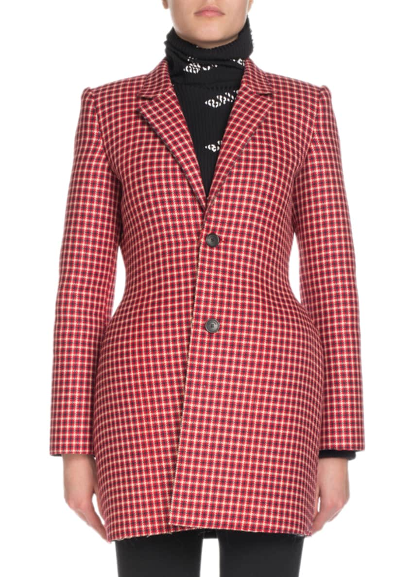 Balenciaga Hourglass Check Blazer Jacket & Matching Items