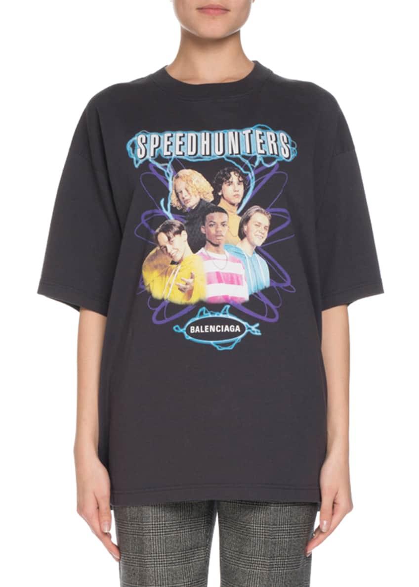 Balenciaga Short-Sleeve Speed Hunters Band T-Shirt & Matching
