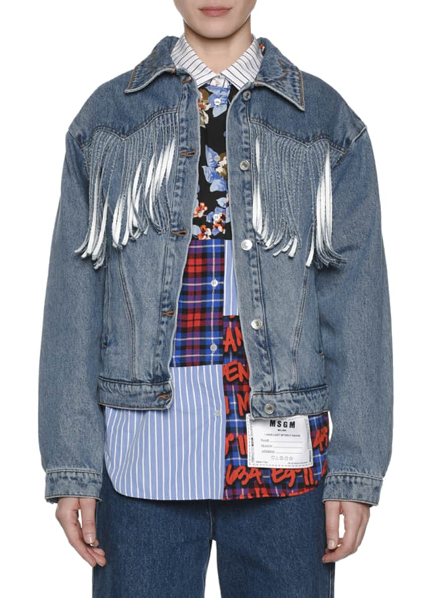 MSGM Belted High-Rise Wide-Leg Jeans & Matching Items