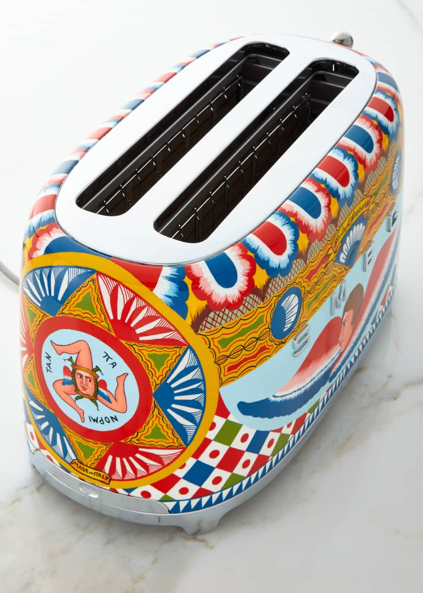 Image 2 of 2: Dolce Gabbana x SMEG Sicily Is My Love 4-Slice Toaster