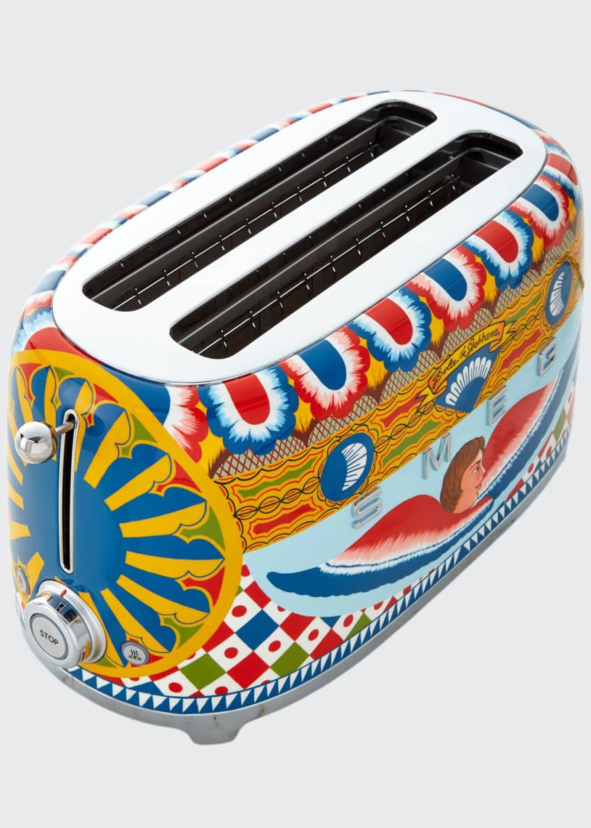 Image 1 of 2: Dolce Gabbana x SMEG Sicily Is My Love 4-Slice Toaster