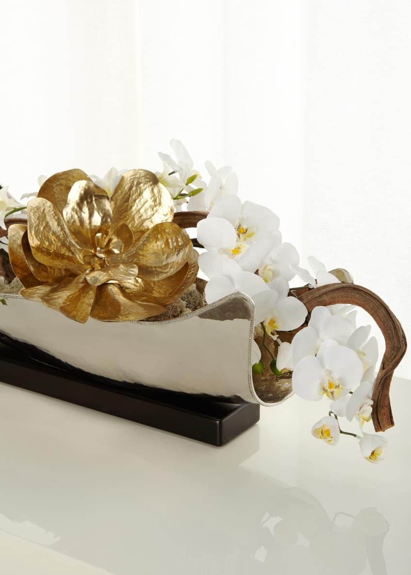 Image 2 of 2: Silver & Gold Floral Arrangement