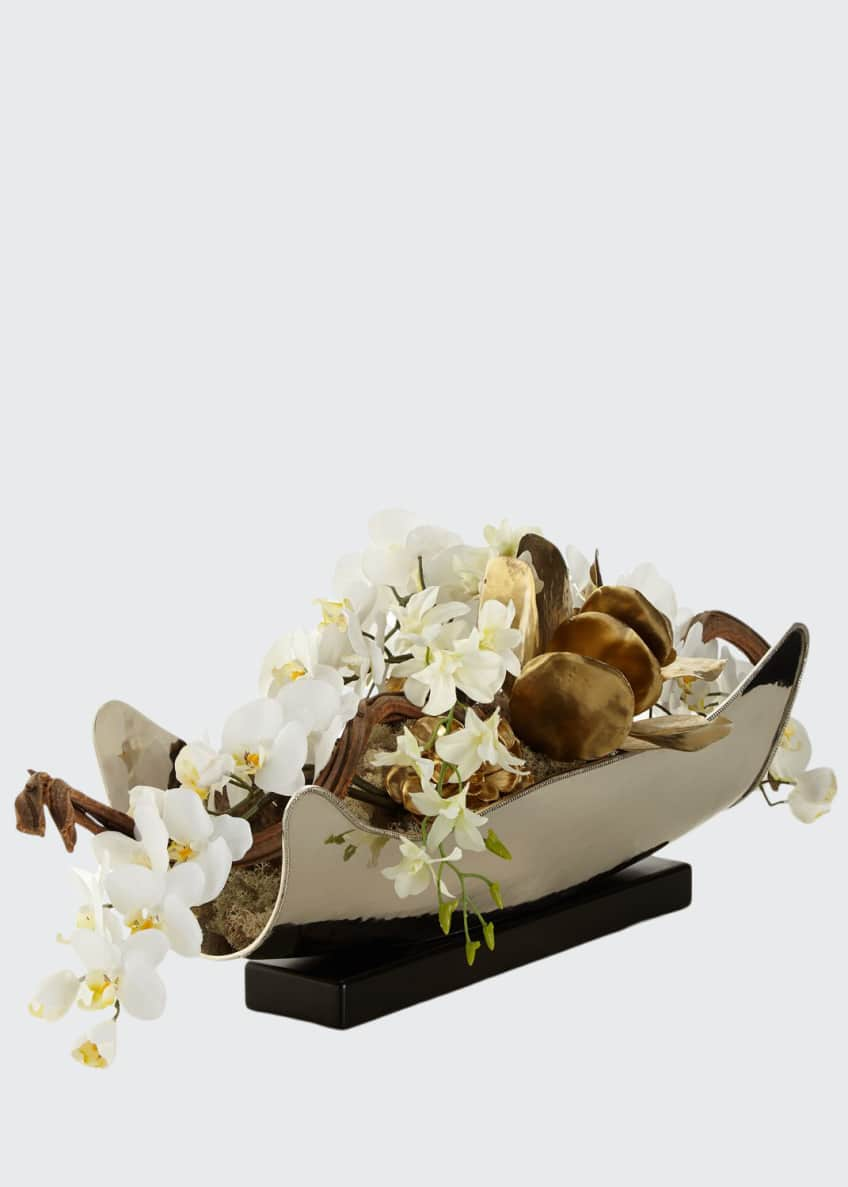 Image 1 of 2: Silver & Gold Floral Arrangement