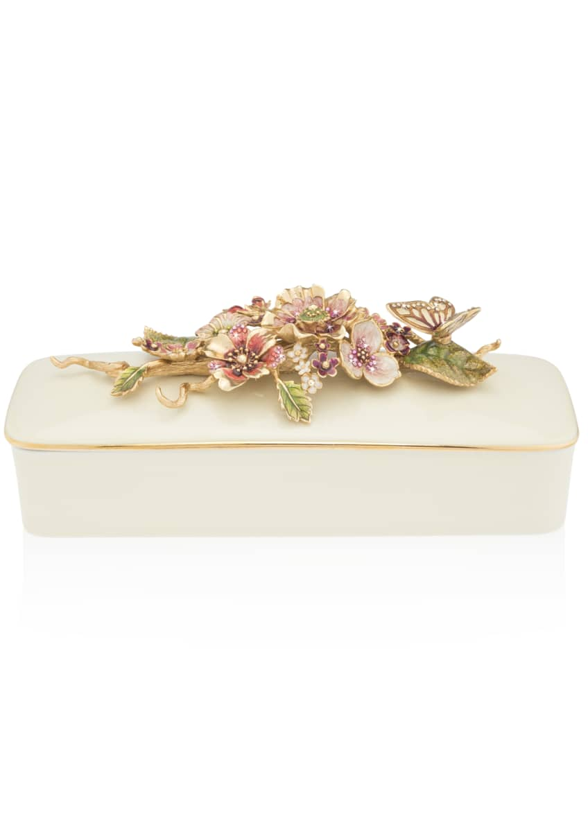 Jay Strongwater Bouquet Floral Branch Box