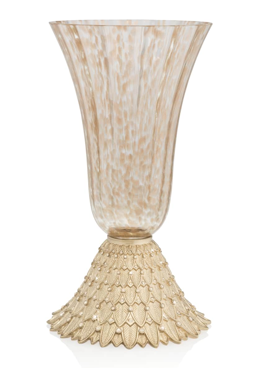 Jay Strongwater Composition Feather Vase