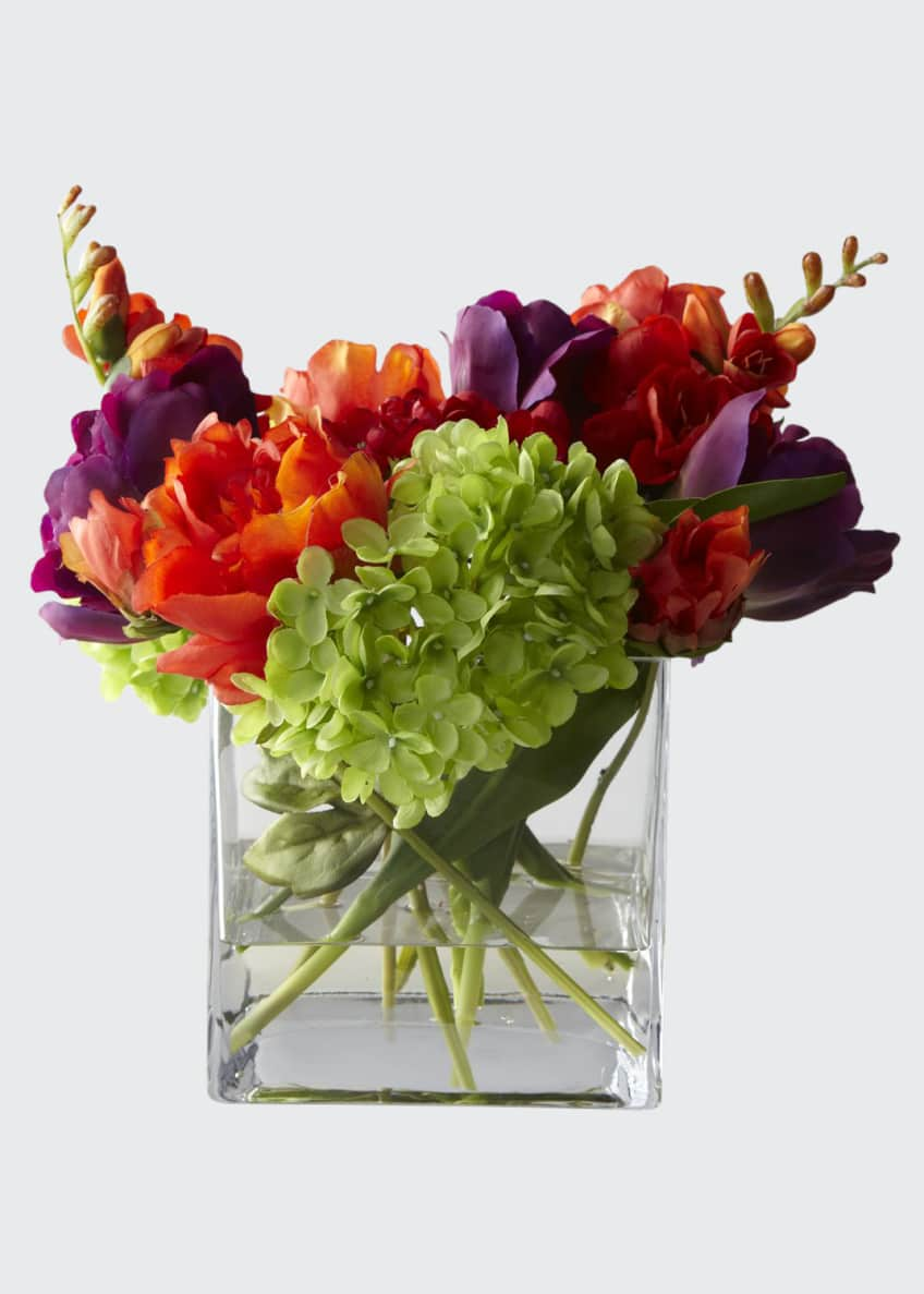Image 1 of 1: Fiesta Faux-Floral Arrangement