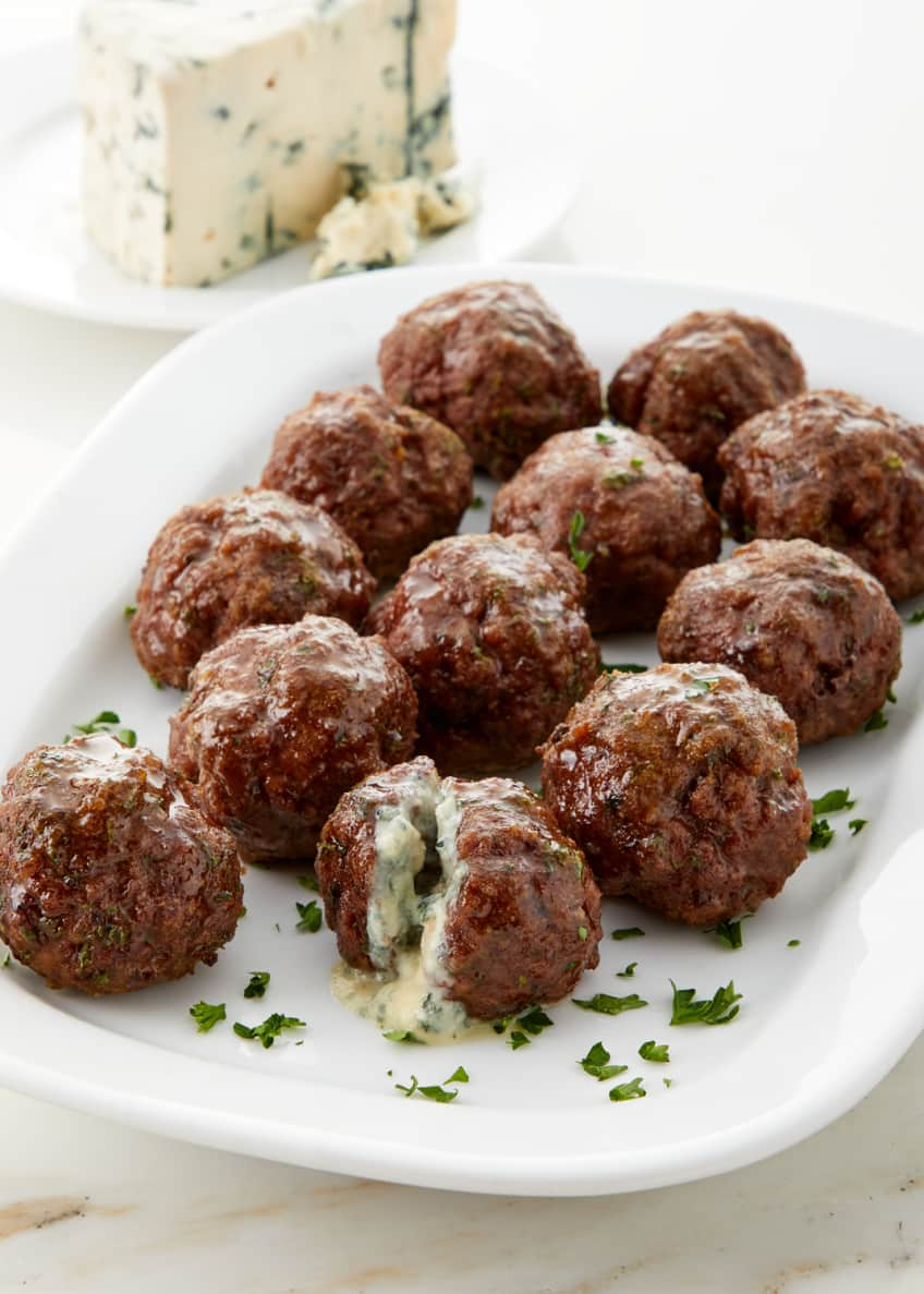 Culinaire Blue Cheese Stuffed Meatballs, Set of 12