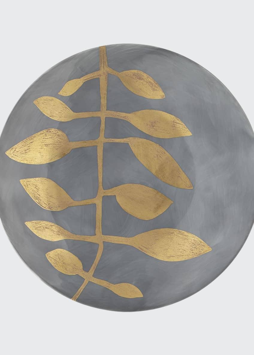 Haviland & Parlon Daphne Lavande Gold-Leaf Dessert Plate,