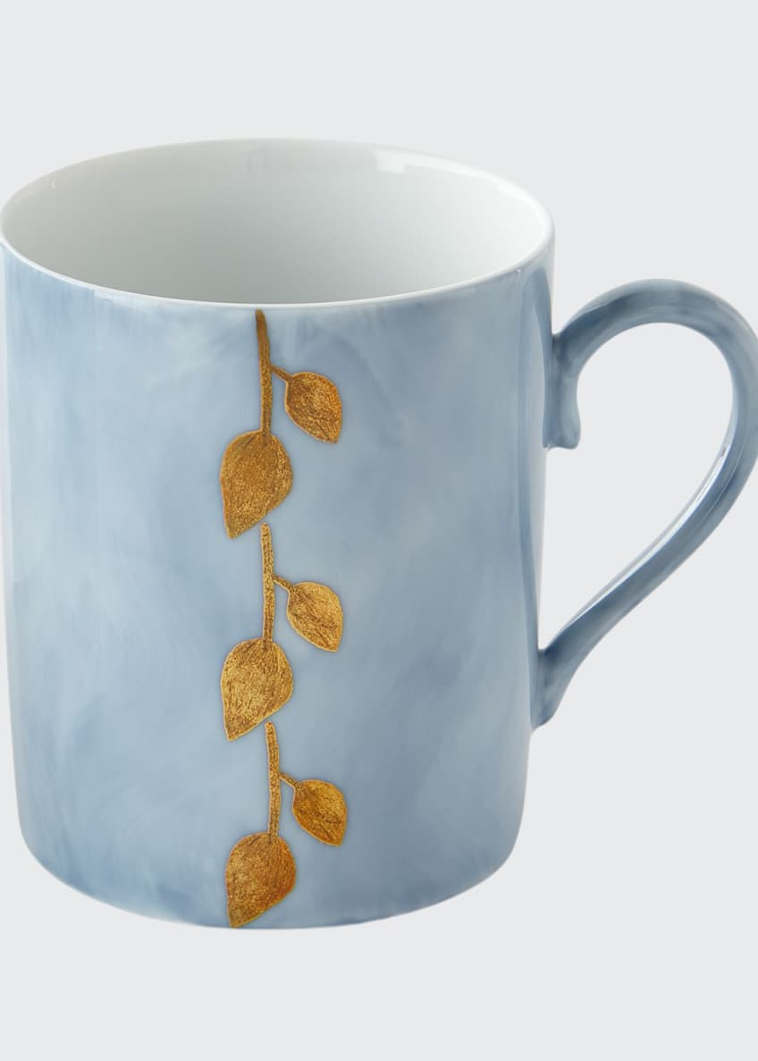 Image 1 of 1: Daphne Lavande Gold-Leaf Mug, Blue