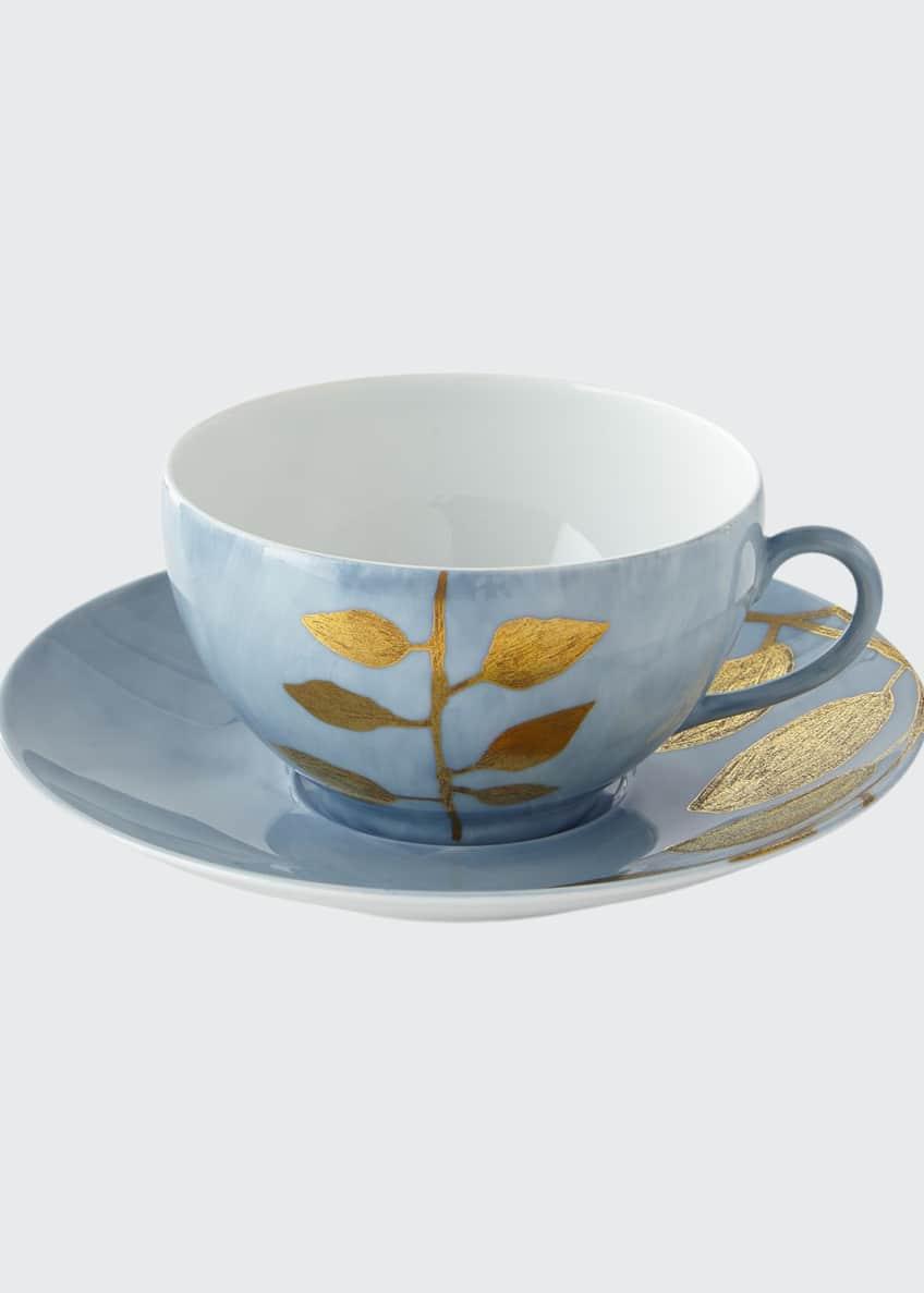 Haviland & Parlon Daphne Lavande Gold-Leaf Breakfast Cup