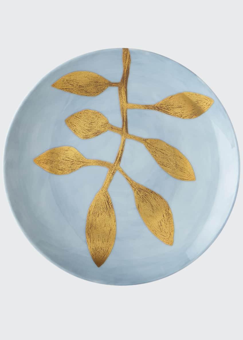 Haviland & Parlon Daphne Lavande Gold-Leaf Buffet Plate,