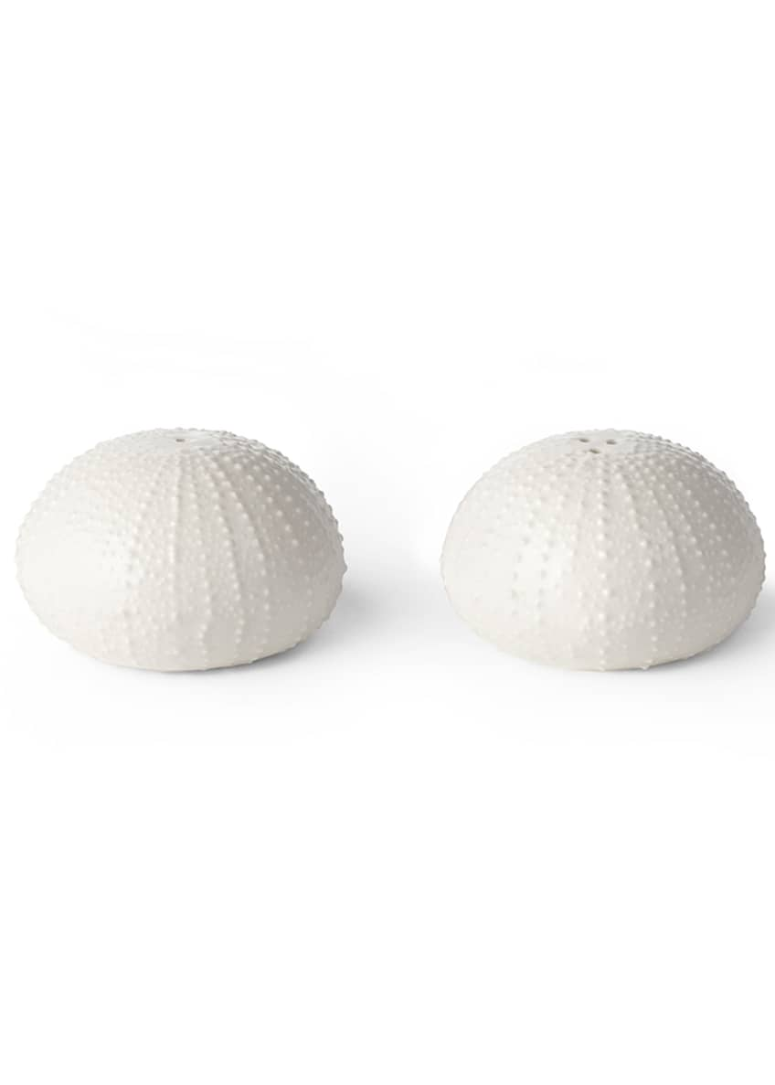 Image 1 of 1: Ceramic Sea Urchin Salt and Pepper Shakers