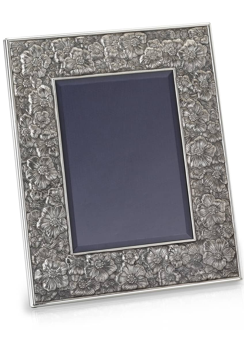 Buccellati Gardenia Silver & Leather Picture Frame, 8