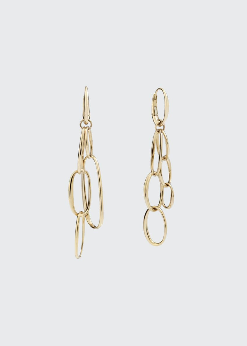 Image 1 of 1: 18k Rose Gold Oval-Link Earrings