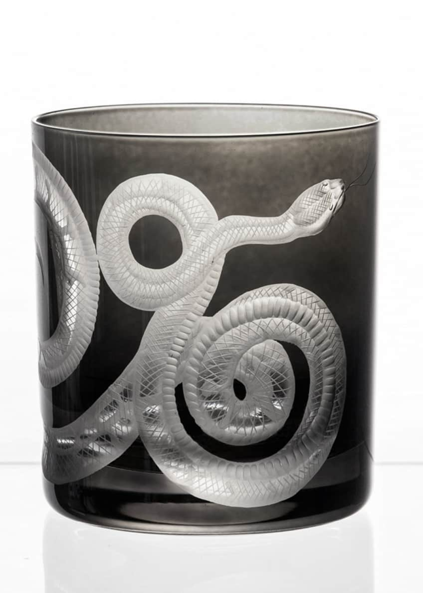 Artel Snake Double Old-Fashioned Glass