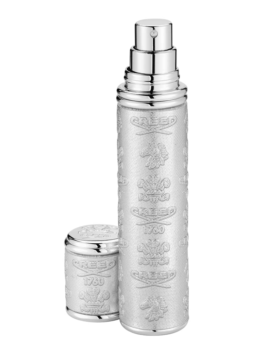 Creed Silver Leather Atomizer With Silver Trim, 10