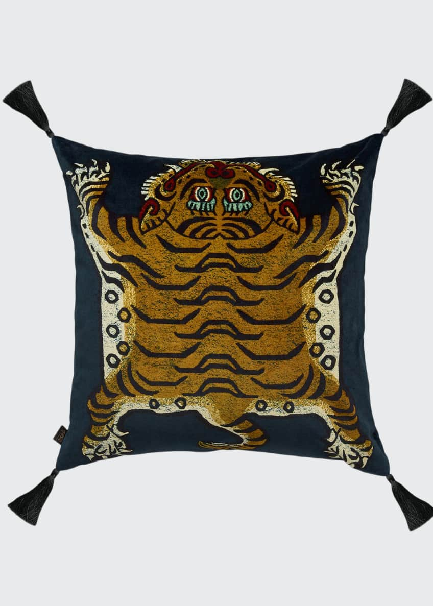 Image 1 of 1: Saber Midnight Large Velvet Pillow