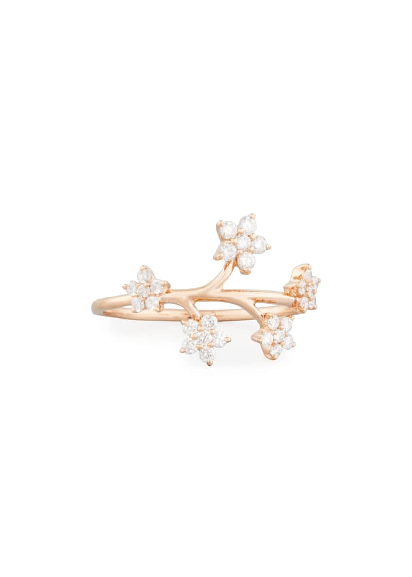 EF Collection 14k Rose Gold Diamond Bouquet Ring