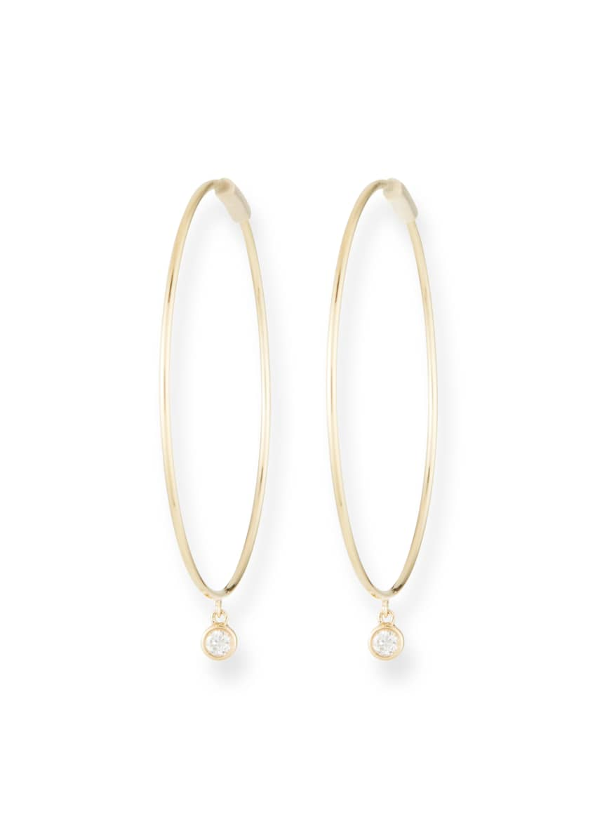 EF Collection The Perfect 14k Gold Hoop Earrings