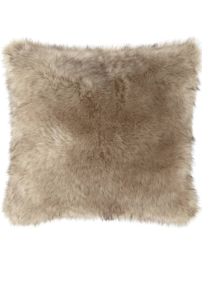 Image 1 of 1: Faux Fur European Sham