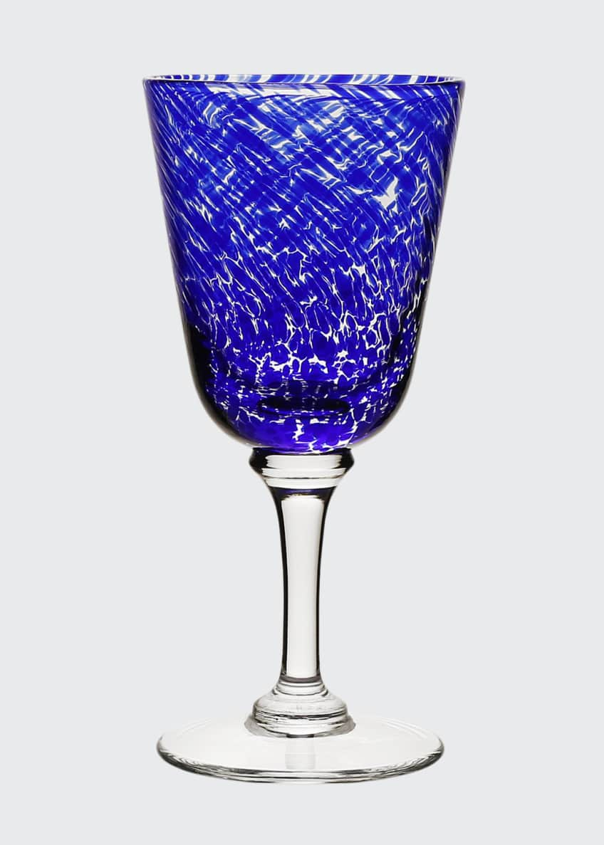 Image 1 of 1: Vanessa Wine Glass, Blue
