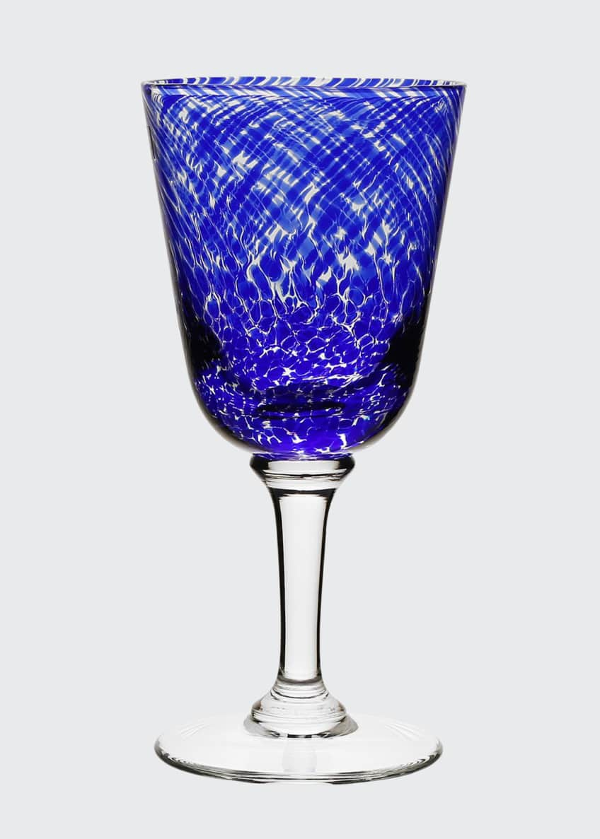 Image 1 of 2: Vanessa Glass Water Goblet, Blue