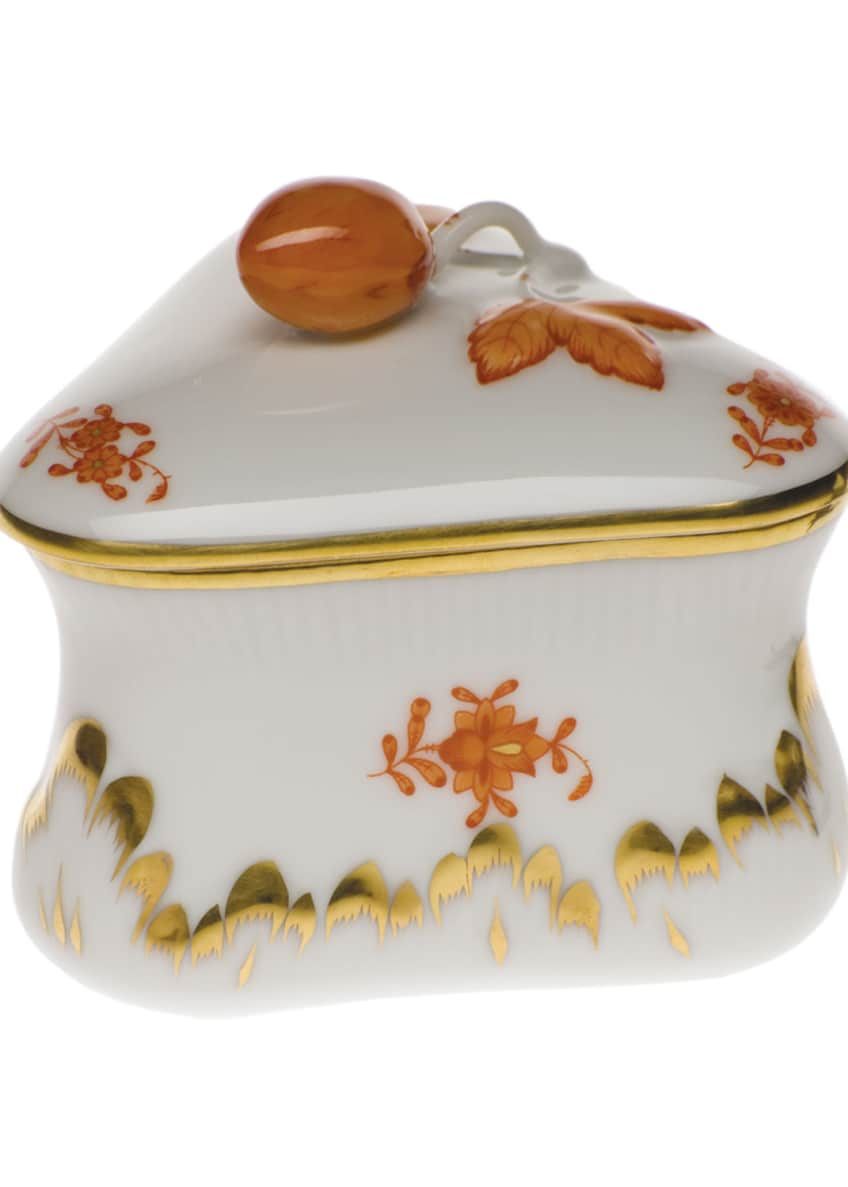 Herend Chinese Boutique Rust Strawberry Bonbon