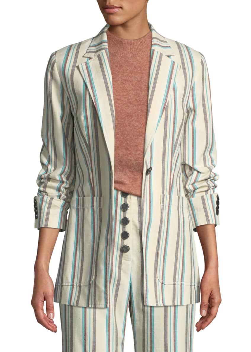 3.1 Phillip Lim Oversized Striped Cotton Blazer &