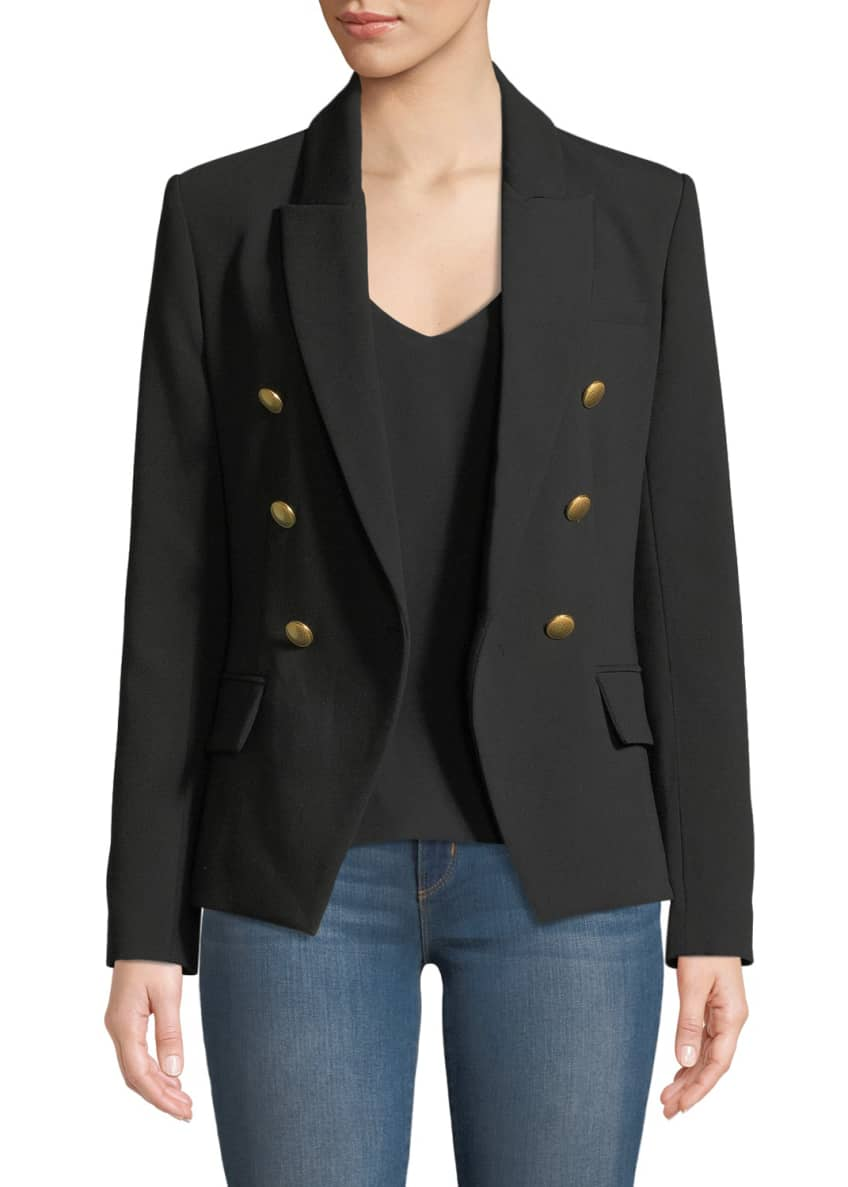 L'Agence Kenzie Double-Breasted Blazer Jacket & Matching Items