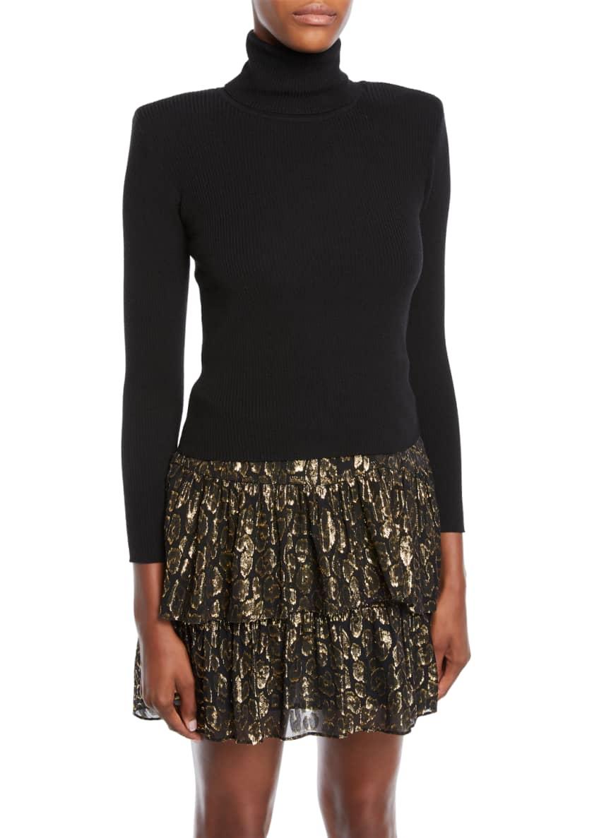 A.L.C. Eleanor Pleated High-Waist Midi Skirt & Matching