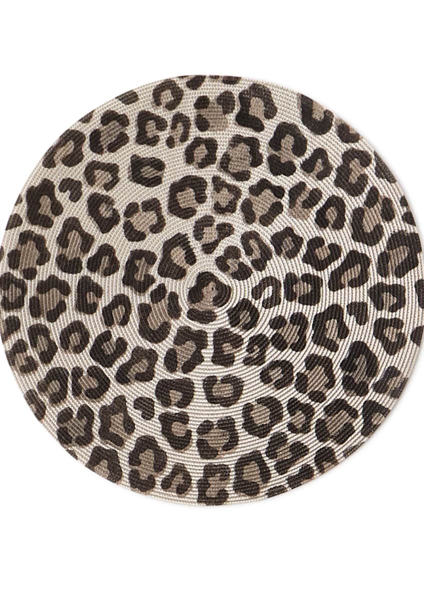 Image 1 of 1: Mod Leopard Round Placemat